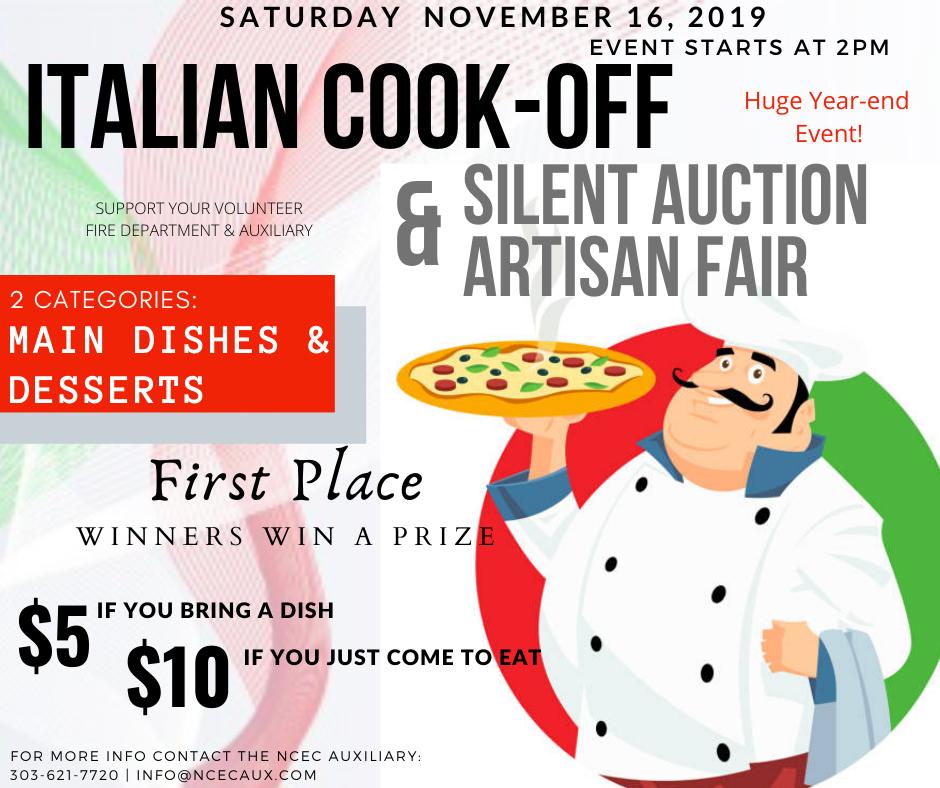 Silent Auction, Artisan Fair, & Italian Cook-off!